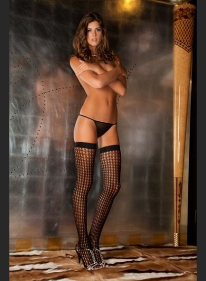 Чорапи - Quarter Crochet Net Thigh High