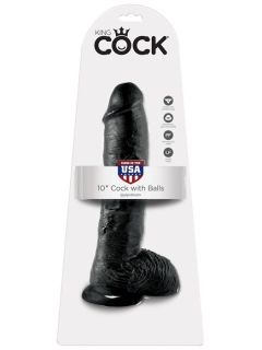 "Дилдо - King Cock 10"" Cock with Balls"