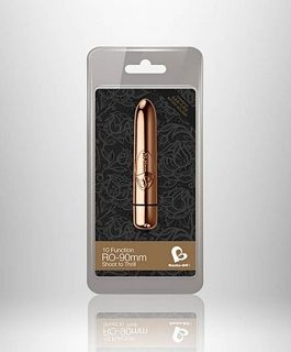 Мини вибратор - RO-90mm 10 Speed Rose Gold